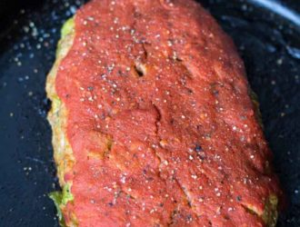 pork meatloaf in a pan