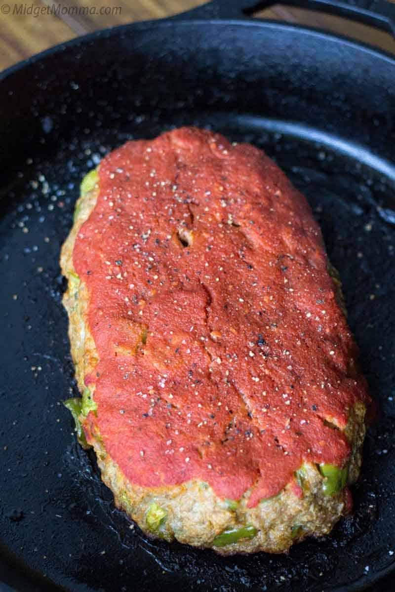 pork meatloaf in a pan