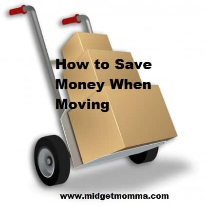 Frugal Moving Tips Midgetmomma