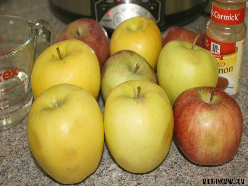 crockpot applesauce ingredients