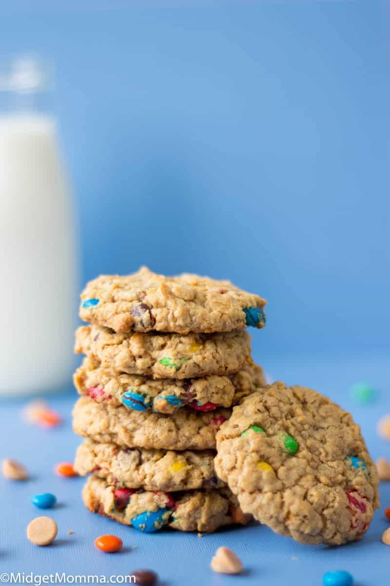 stack of Monster Cookies Recipe