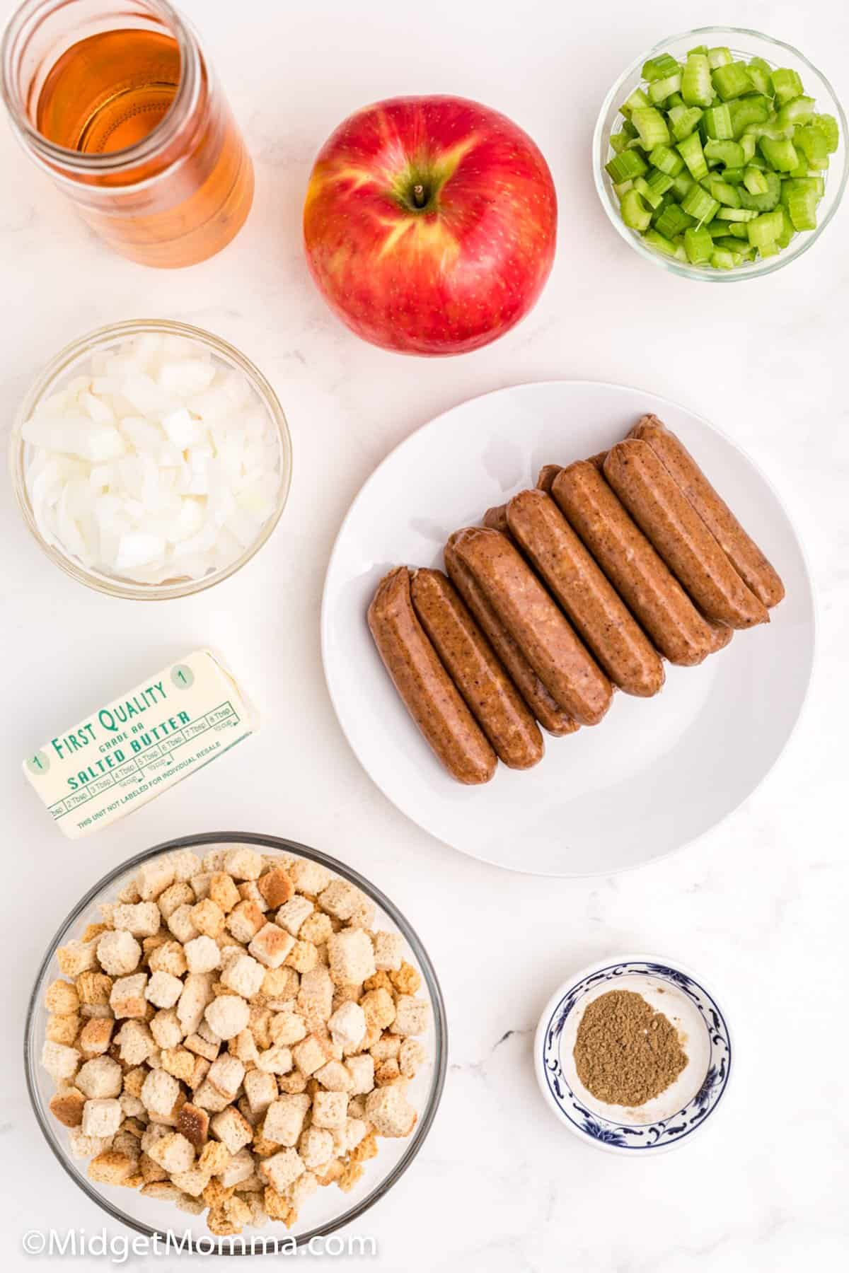 sausage apple stuffing ingredients