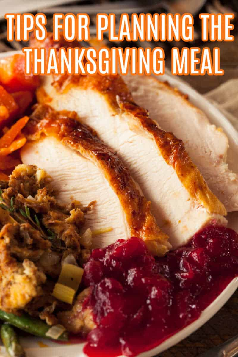 TIPS FOR PLANNING THANKSGIVING DINNER - Full Homemade Thanksgiving Dinner with Turkey Stuffing Veggies and Potatos