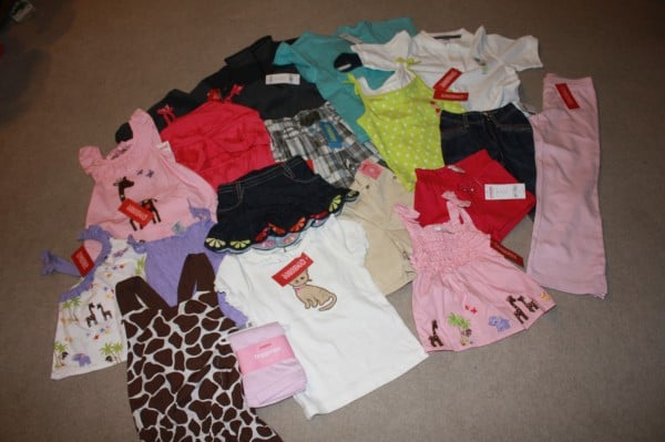 My Score at Gymboree!! $52.25 for $378.25 worth the Clothing!