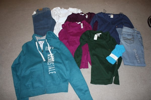 Shopping at Aeropostale: Spent $40.91 Saved: $212.59