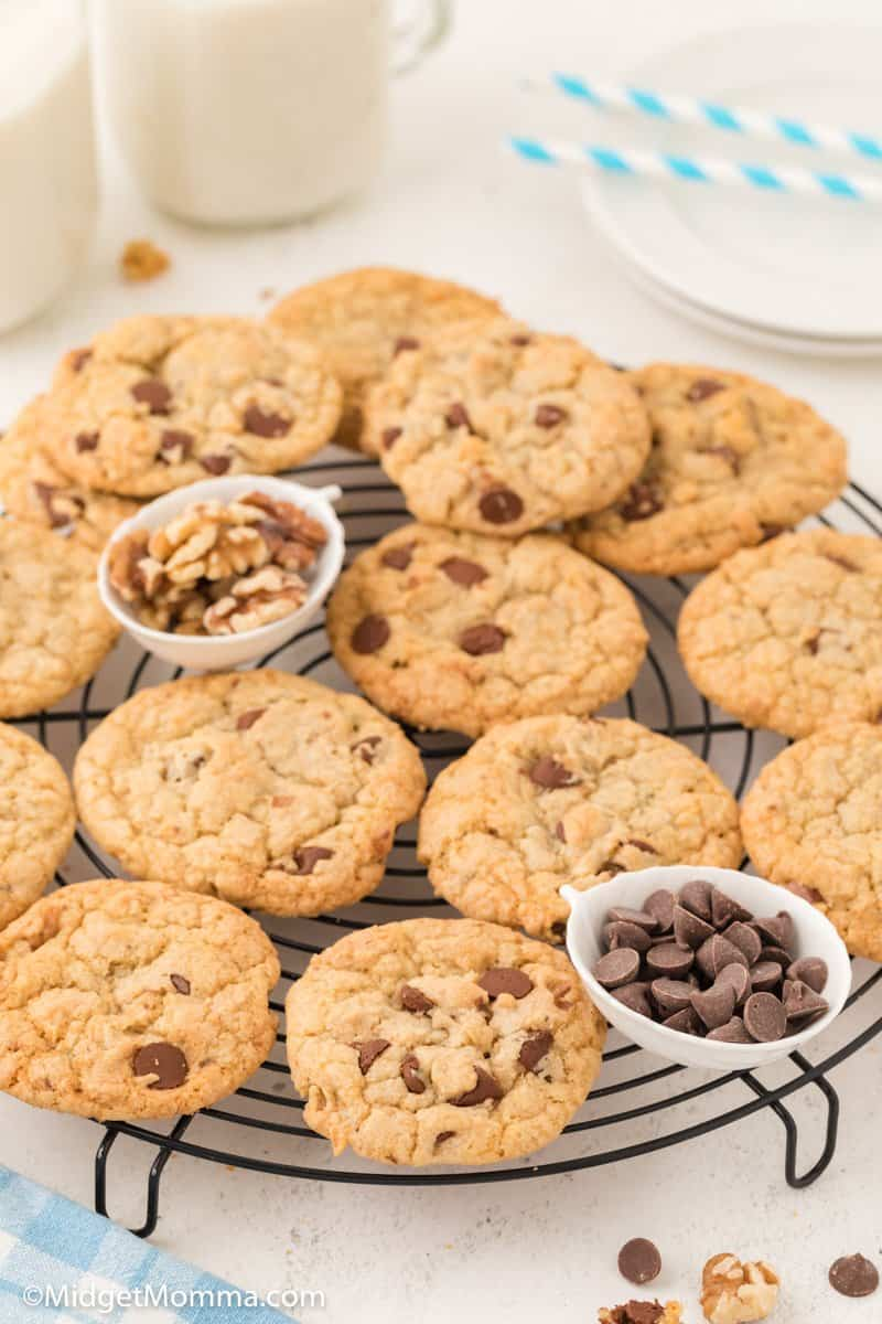plate of Walnut Chocolate Chip Cookies