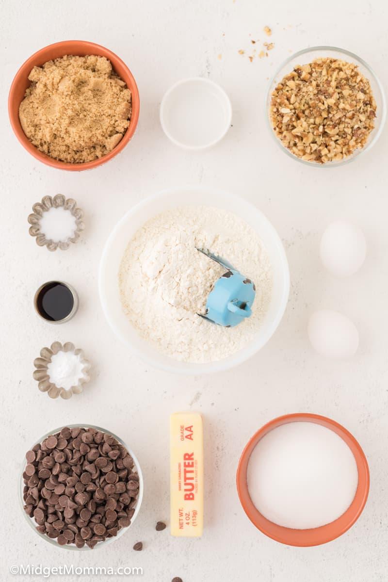 Walnut Chocolate Chip Cookies ingredients