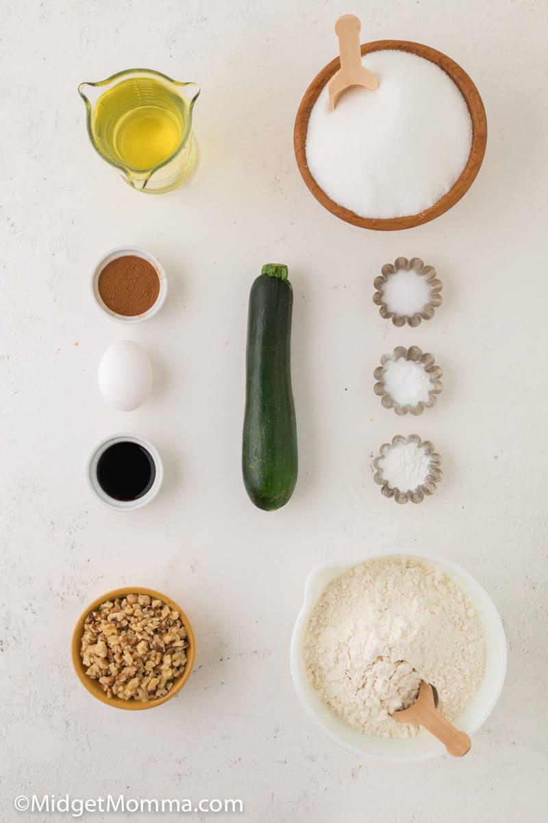 Walnut Zucchini Bread Recipe ingredients