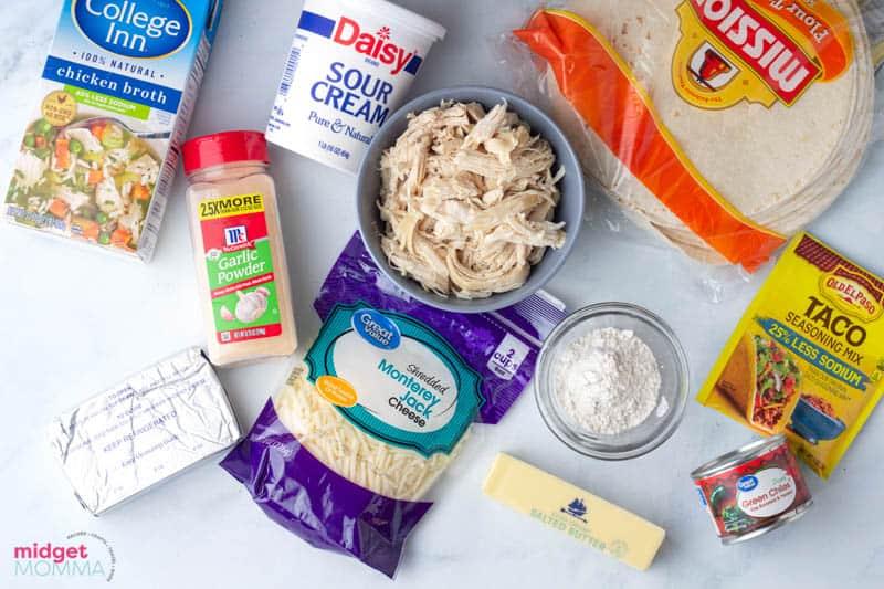 White Chicken Enchiladas Ingredients