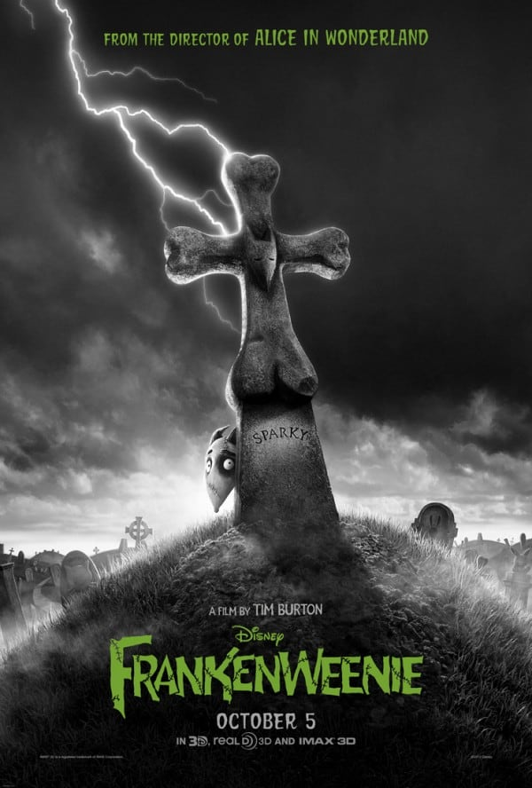 New Disney Movie, Frankenweenie -coming out in October Just in time for Halloween!