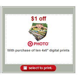 Target: 10 FREE 4×6 Photo Prints