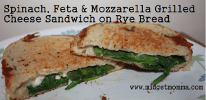 Spinach and Feta are such a great classic combination that it has to be a great sandwich. Than you add some mozzarella cheese for that stringy texture.