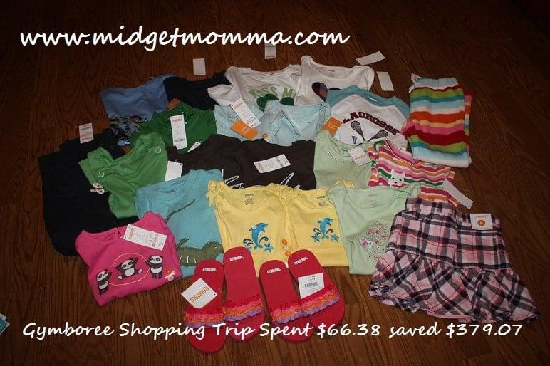 Gymboree Shopping Trip- Paid $66.28 Saved $379.07
