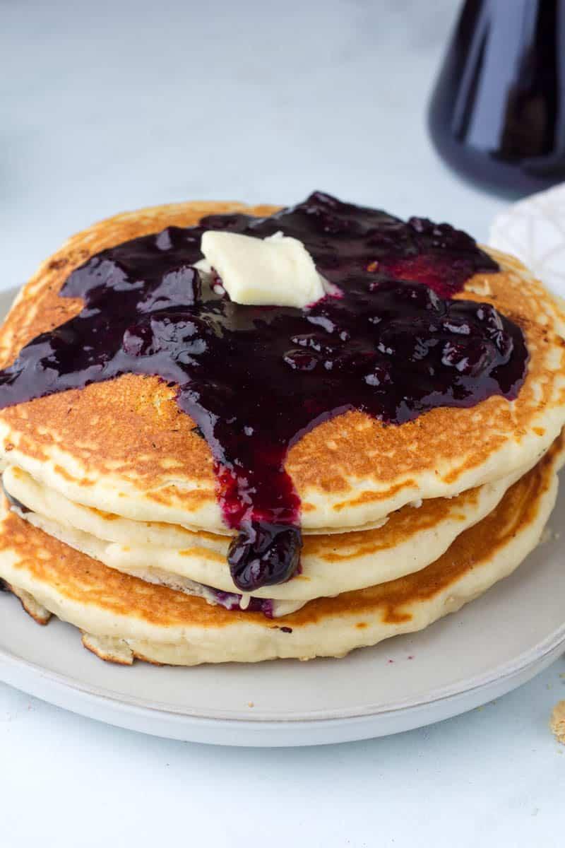 White Chocolate Blueberry Cheesecake Pancakes
