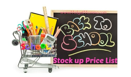 Back To School Stockup Prices list