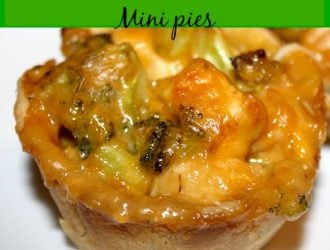 Chicken, Broccoli and Cheese Mini Pies are a fun twist on your normal weeknight dinner. The combination of cheese and broccoli is my favorite.