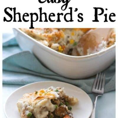 Easy Shepard's pie in a baking dish