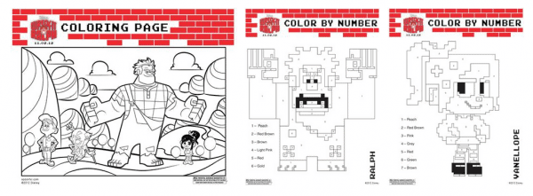 Wreck It Ralph Coloring Sheets!!