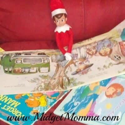 elf on the shelf book reading