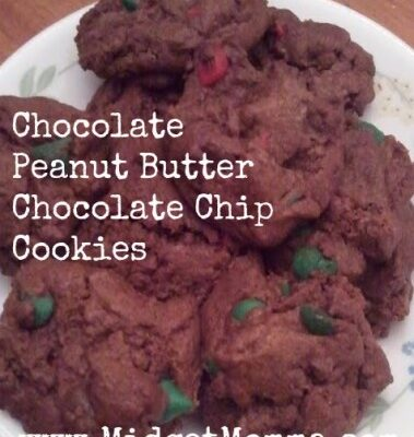 This is a simple recipe that uses a box off cookie mix to turn it into a great peanut butter chocolate cookie you will love!