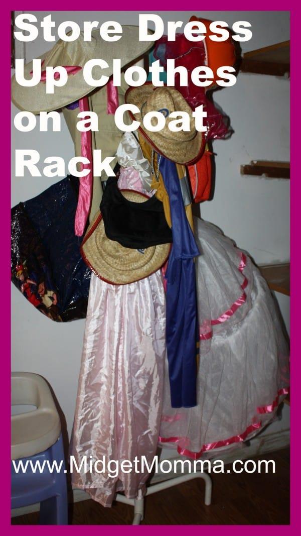 {Home Organization} Storing Dress Up clothing Using a Coat rack