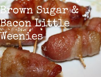 This Sweet Savory Brown Sugar Bacon Little Weenies recipe is only three simple ingredients. They are great thing to throw together for any get together.