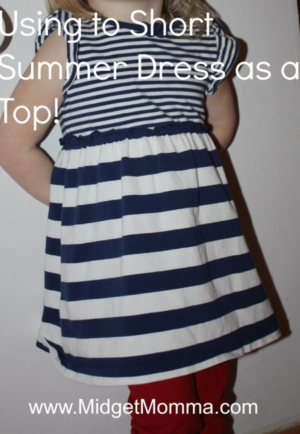 Children's Fashion: Reusing a short Summer dress as a top