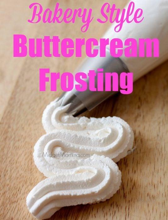 Vanilla buttercream cupcake frosting