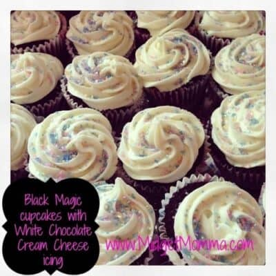 Black Magic cupcake are a cupcake loaded with chocolate flavor and topped with sweet and creamy White Chocolate Cream Cheese Frosting