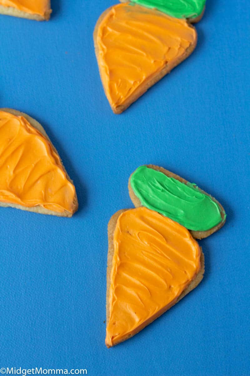 Carrot Shaped Easter Sugar Cookies
