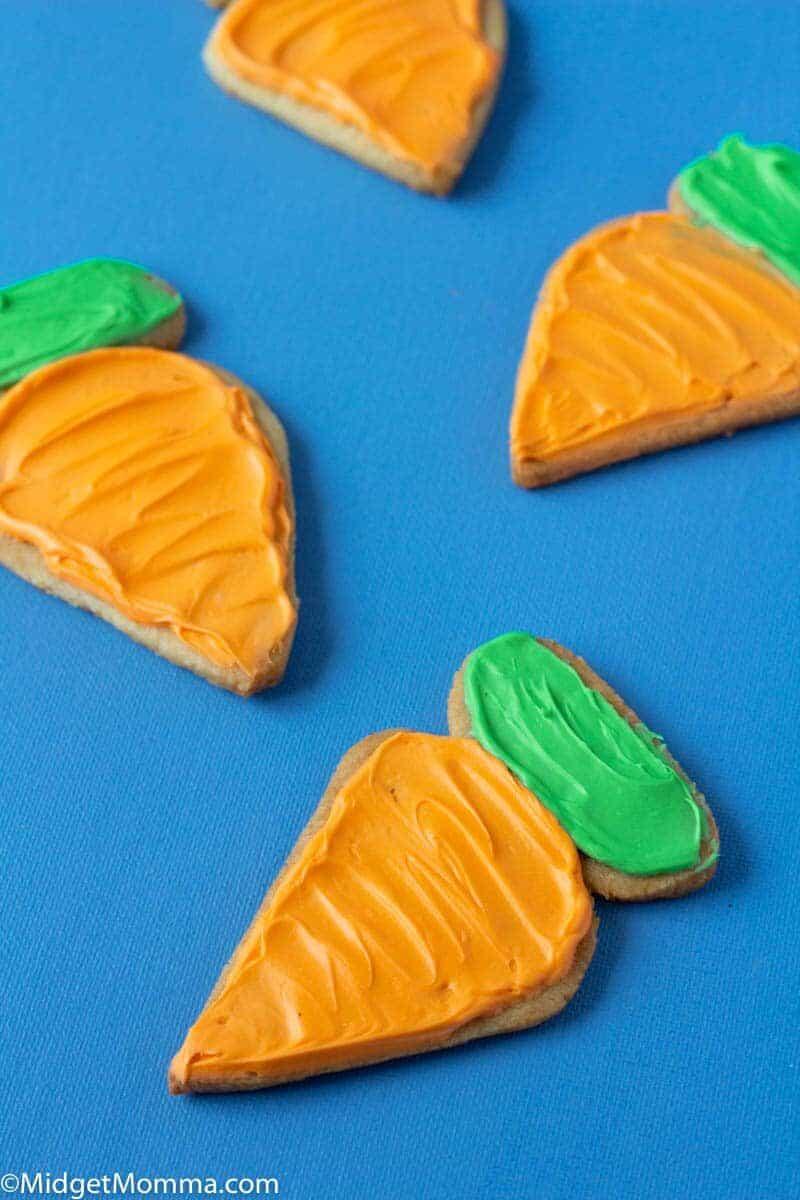 Carrot Shaped Easter Sugar Cookies