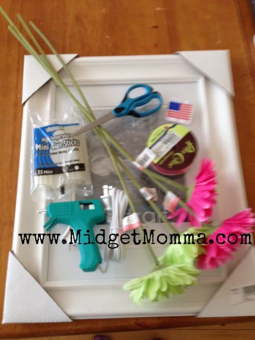 Picture Frame Hair Bow Holder Tutorial