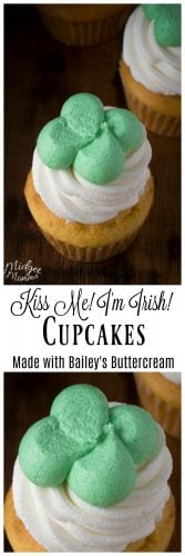 Kiss Me I'm Irish St. Patrick's Day Cupcakes