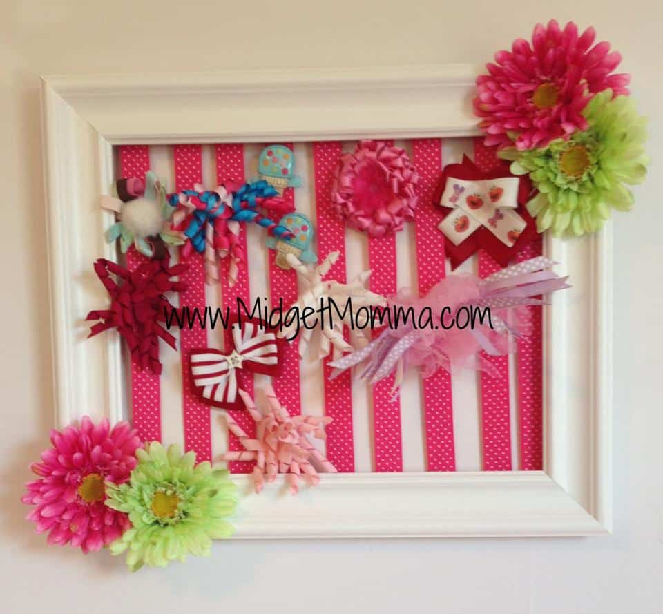 how to make a Picture Frame Hair Bow Holder