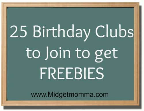 25 Birthday Clubs to Join to get FREEBIES