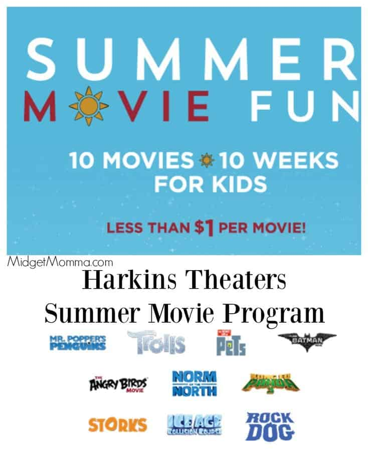 Harkins Summer Movies Program for Kids - Score $1 Movie