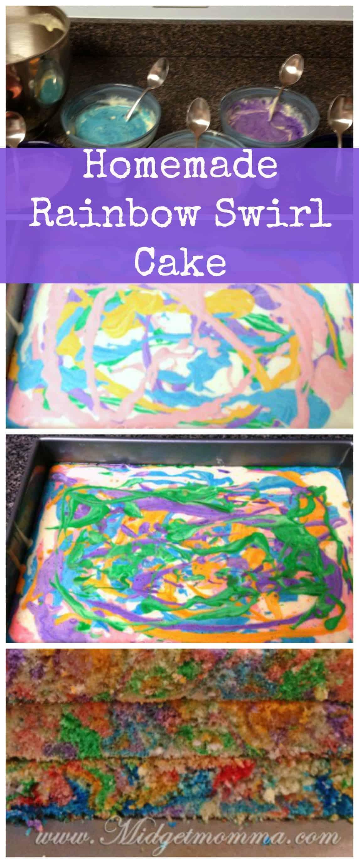 How To Make Homemade Rainbow Cake Recipe