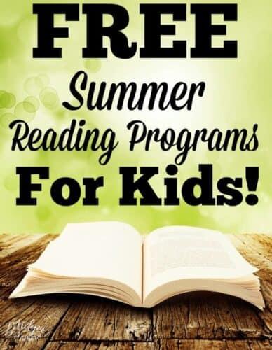 free Summer Reading Programs for kids