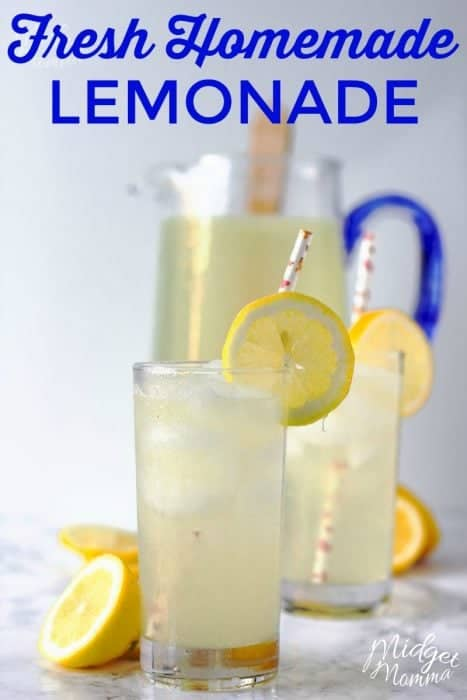 Homemade Lemonade Recipe Made With Fresh Lemons