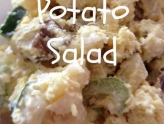 This classic Homemade Potato Salad Recipe will sure be a hit at your next upcoming BBQ. It is nice and creamy with a fun crunch from the celery.
