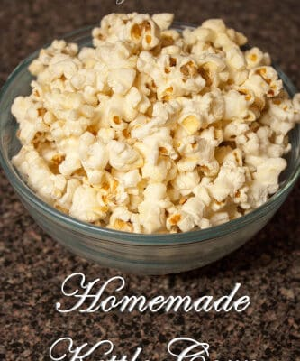 You will feel like you are at a fair when you smell this Homemade Kettle Corn popping! This recipe is the perfect combination of salty and sweet!