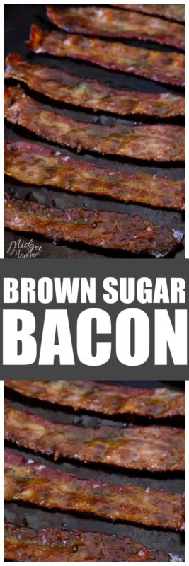 There is nothing like a tasty piece of candied bacon.. if you have never made oven baked bacon then you are in for a real treat. This bacon recipe is one of our family favorites! #Bacon #CandiedBacon #BrownSugar #BrownSugarBacon #Breakfast #Brunch #BaconRecipe #OvenBakedBacon