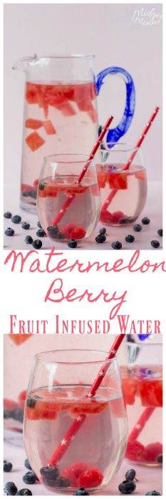 We love this Watermelon Berry Fruit Infused Water and it is easy to make. This Watermelon water is perfect for a hot summer day when you are needing a refreshing drink.
