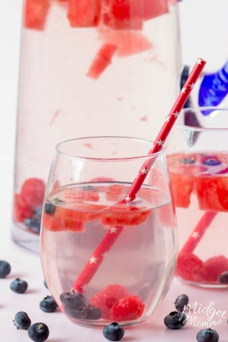 Watermelon Berry Fruit Infused Water
