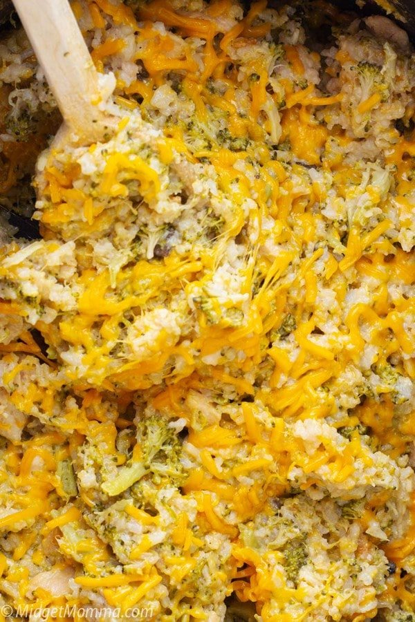 Crockpot Chicken Broccoli and Rice Casserole