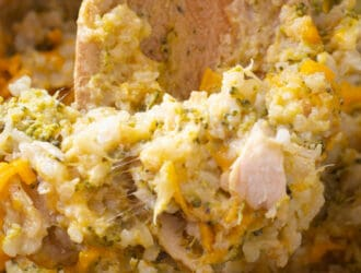 Crockpot Chicken Broccoli and Rice Casserole