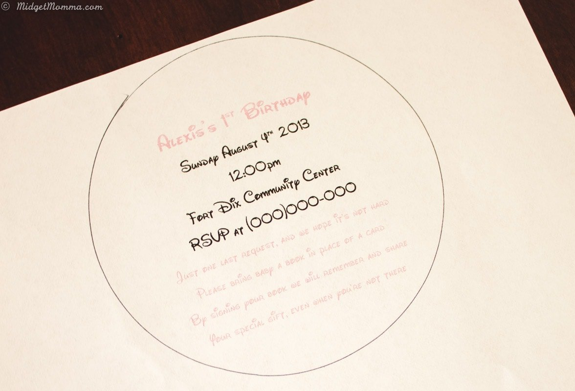 printed paper for easy minnie invitations