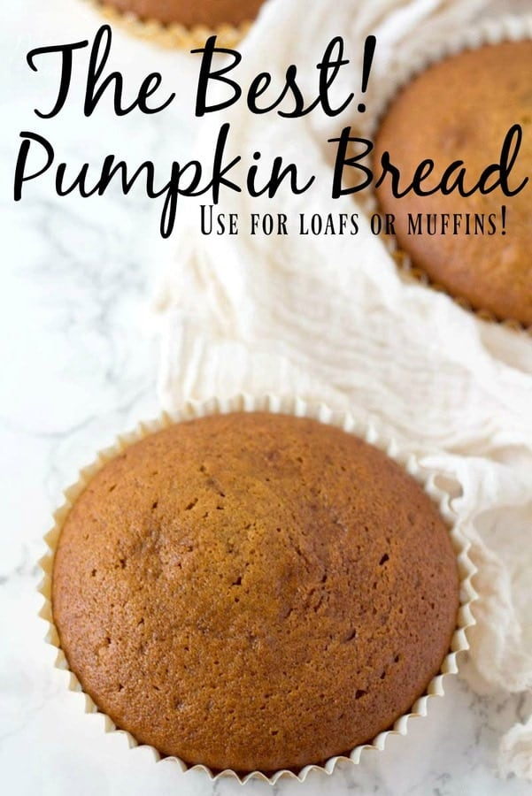 This Pumpkin Bread Recipe is a very classic breakfast bread recipe. It combines pureed pumpkin with lots of sweet fall spices.
