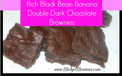 Rich Black Bean Banana Double Dark Chocolate Brownies are healthy brownies using black beans, bananas and apples! Try out this goof for you treat!