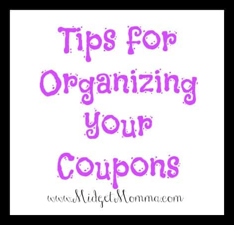 Tips for Organizing your Coupons